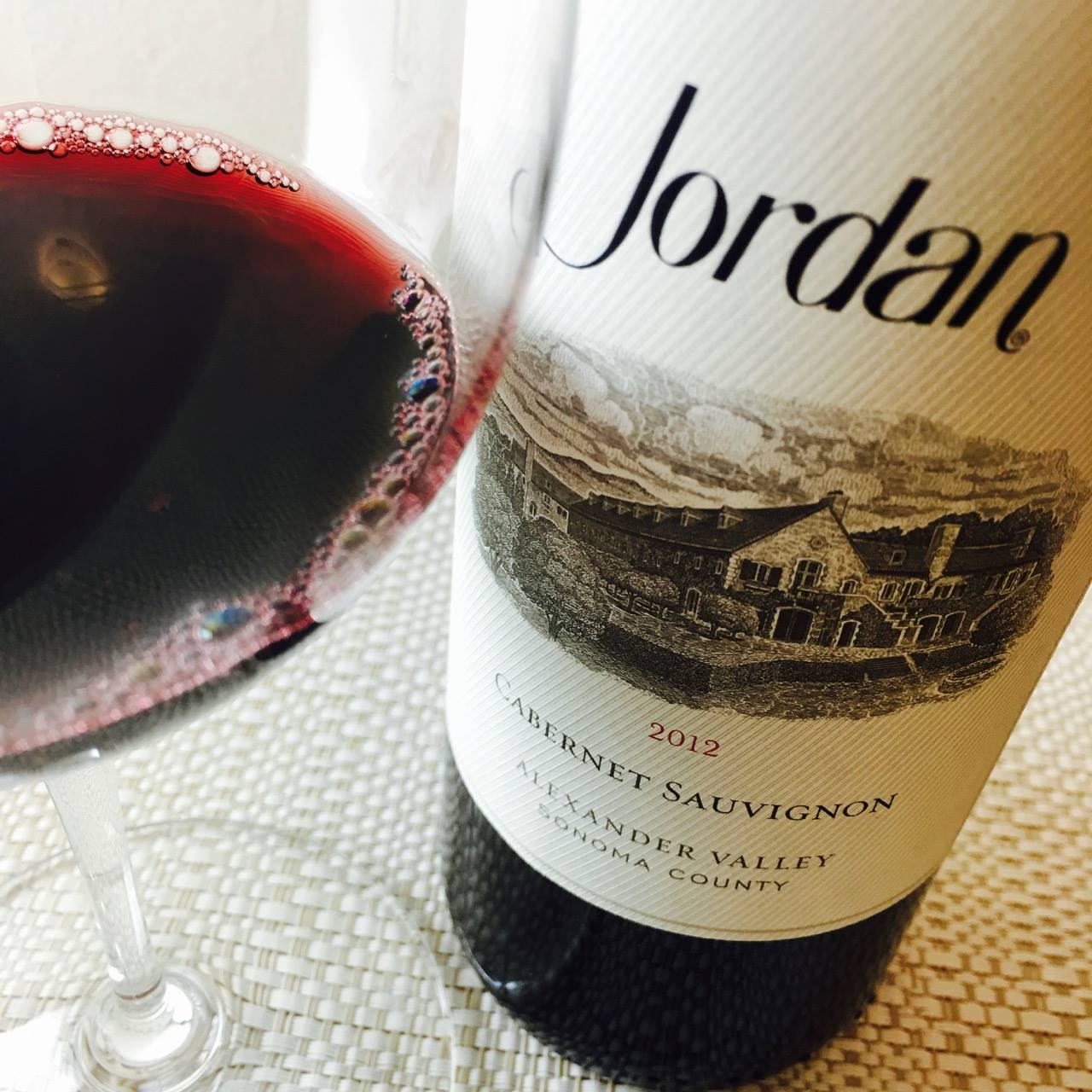 2012 Jordan Vineyard and Winery Cabernet Sauvignon Alexander Valley, Sonoma County