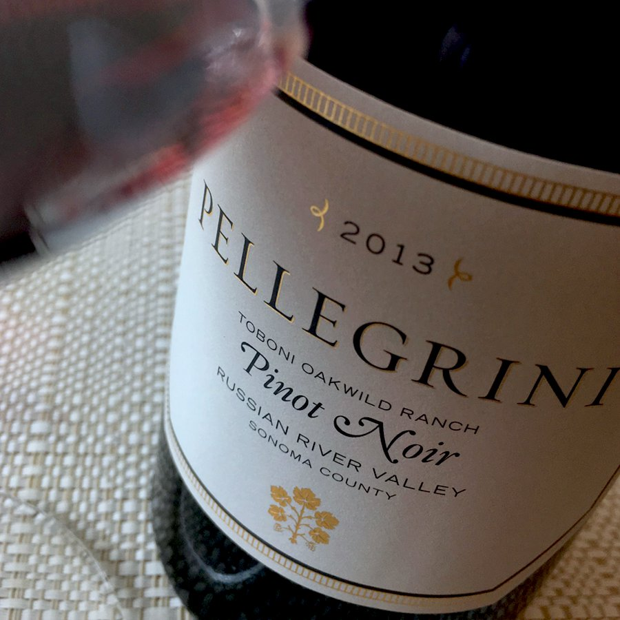 2013 Pellegrini Wine Company Pinot Noir Toboni Oakwild Ranch Russian River Valley, Sonoma County
