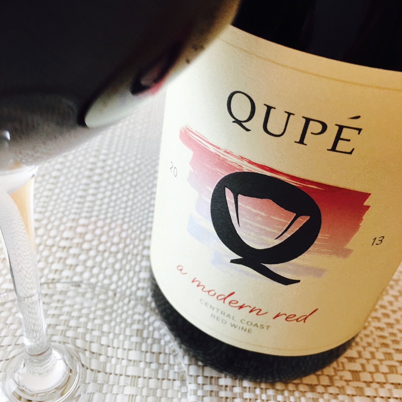 2013 Qupé Red Blend A Modern Red Central Coast