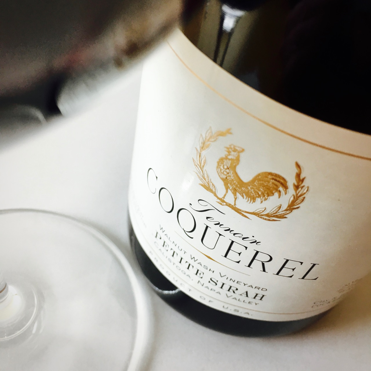 2012 Coquerel Family Wine Estates Petite Sirah Walnut Wash Vineyard Calistoga, Napa Valley