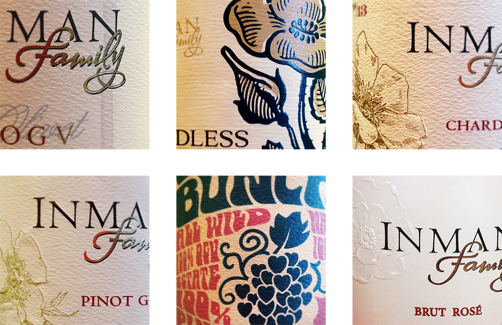 Inman Family Wine Labels