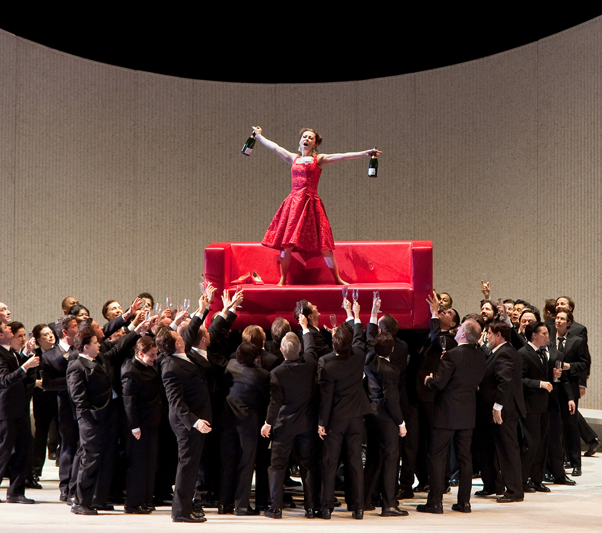 Violetta and Chorus in a Scene from Verdi's La Traviata