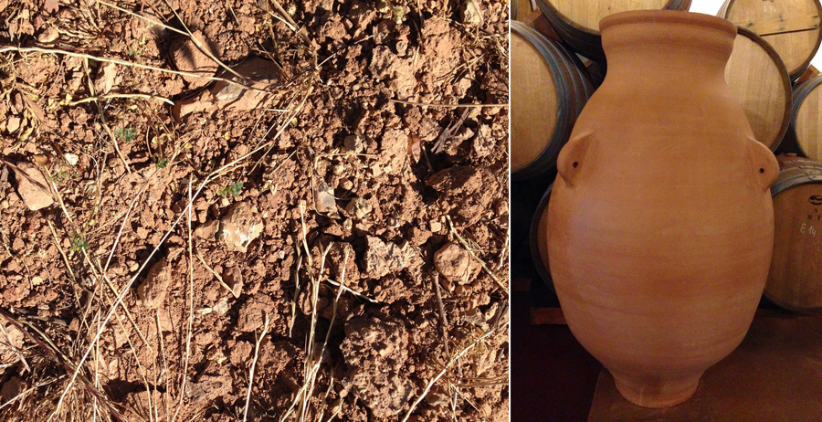 Clay soils and amphora
