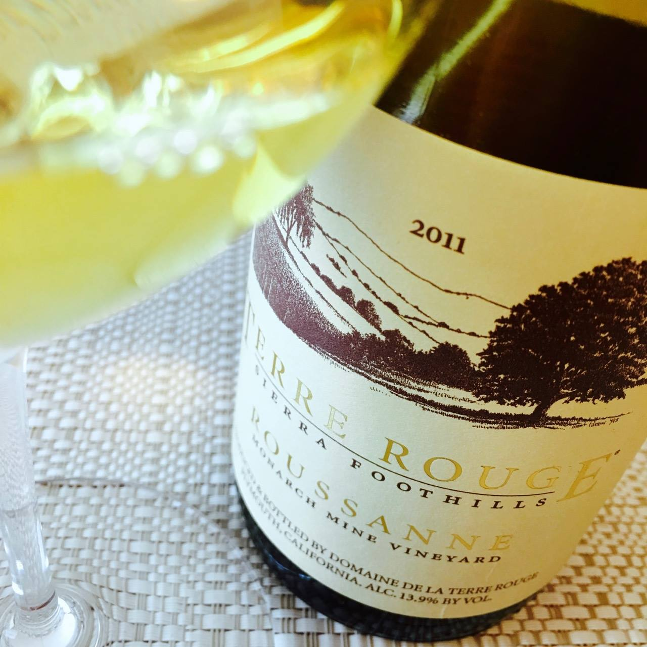 2011 Terre Rouge Roussanne Monarch Mine Vineyard Sierra Foothills