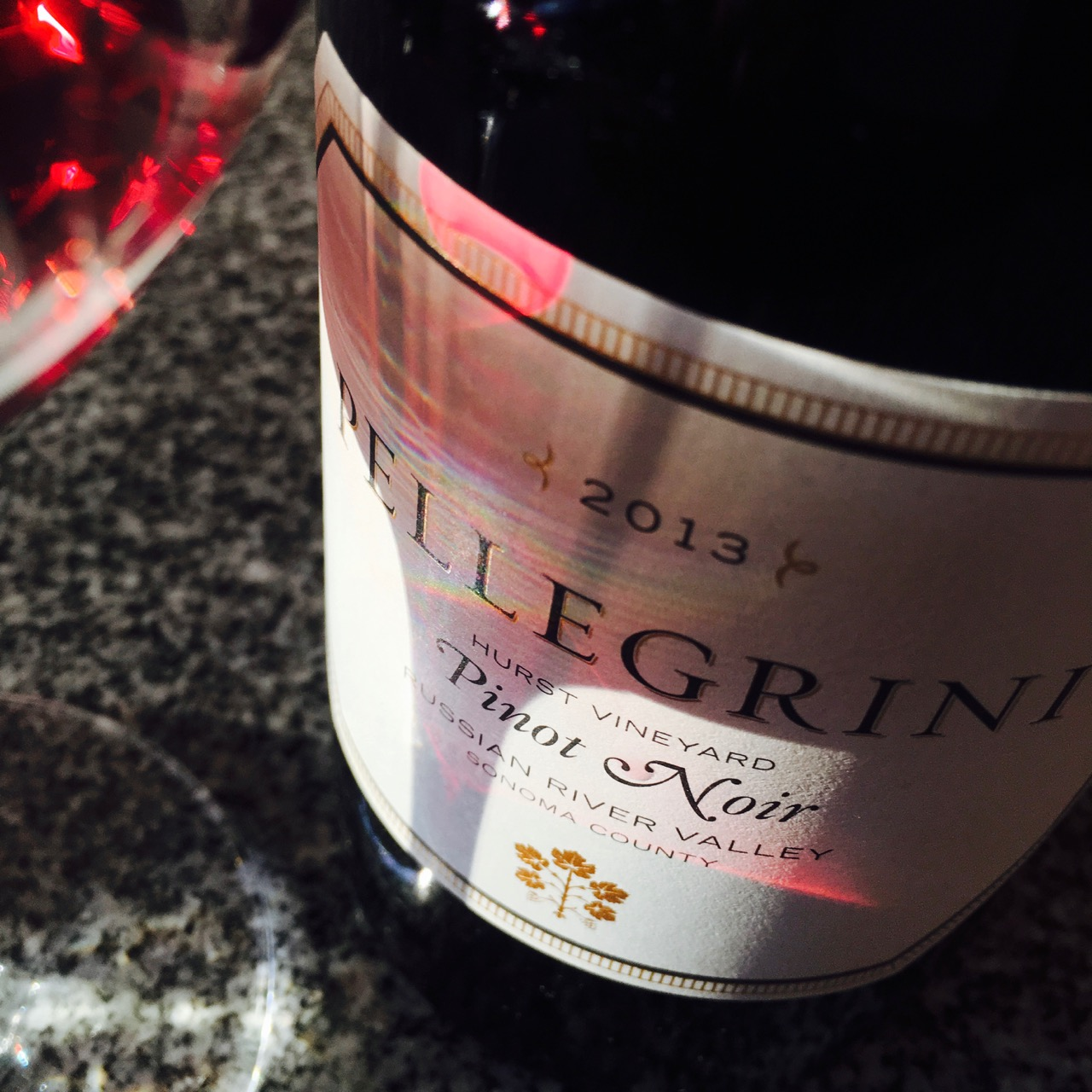 2013 Pellegrini Wine Company Pinot Noir Hurst Vineyard, Russian River Valley, Sonoma County