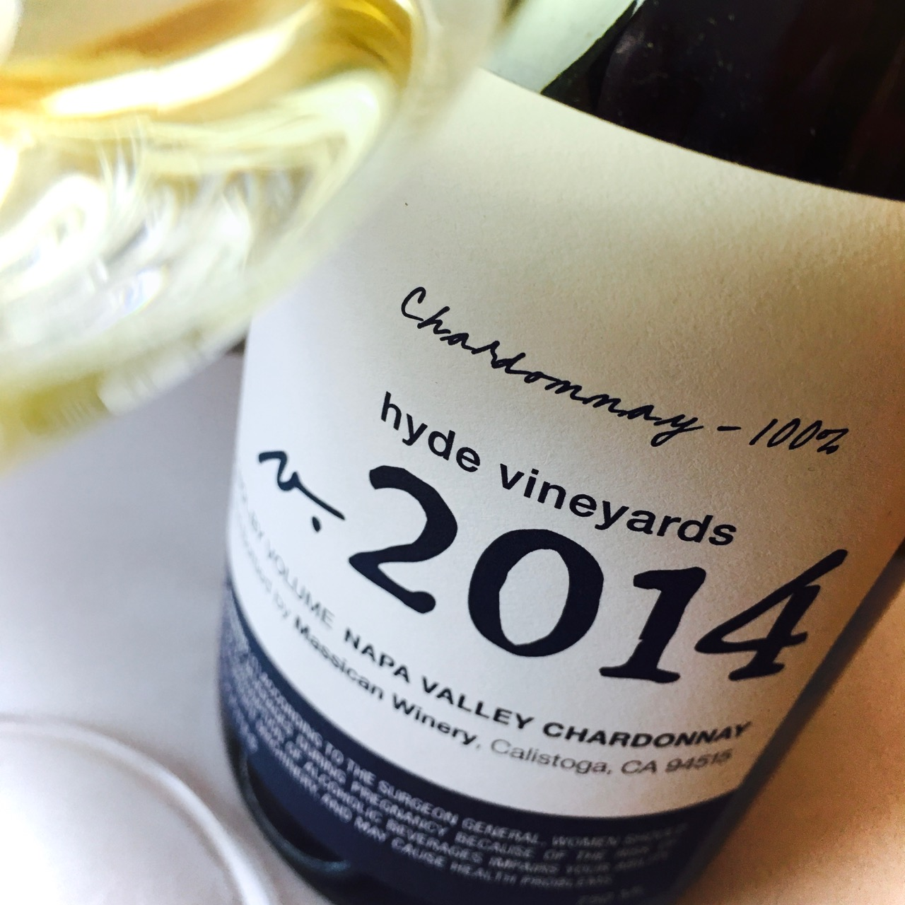 2014 Massican Winery Chardonnay Hyde Vineyards Napa Valley