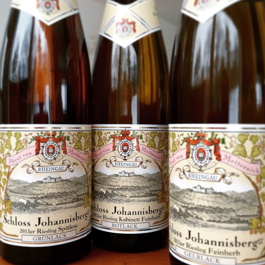 Rot, Gelb, Grün: Three Rieslings from Historic Schloss Johannisberg