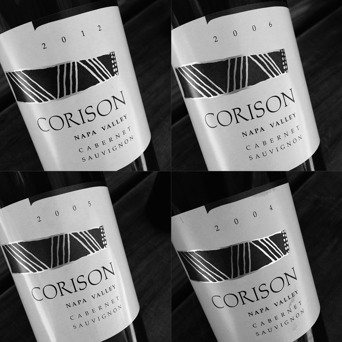 Corison Winery Cabernet Sauvignon Napa Valley, 2012, 2006, 2005, and 2004
