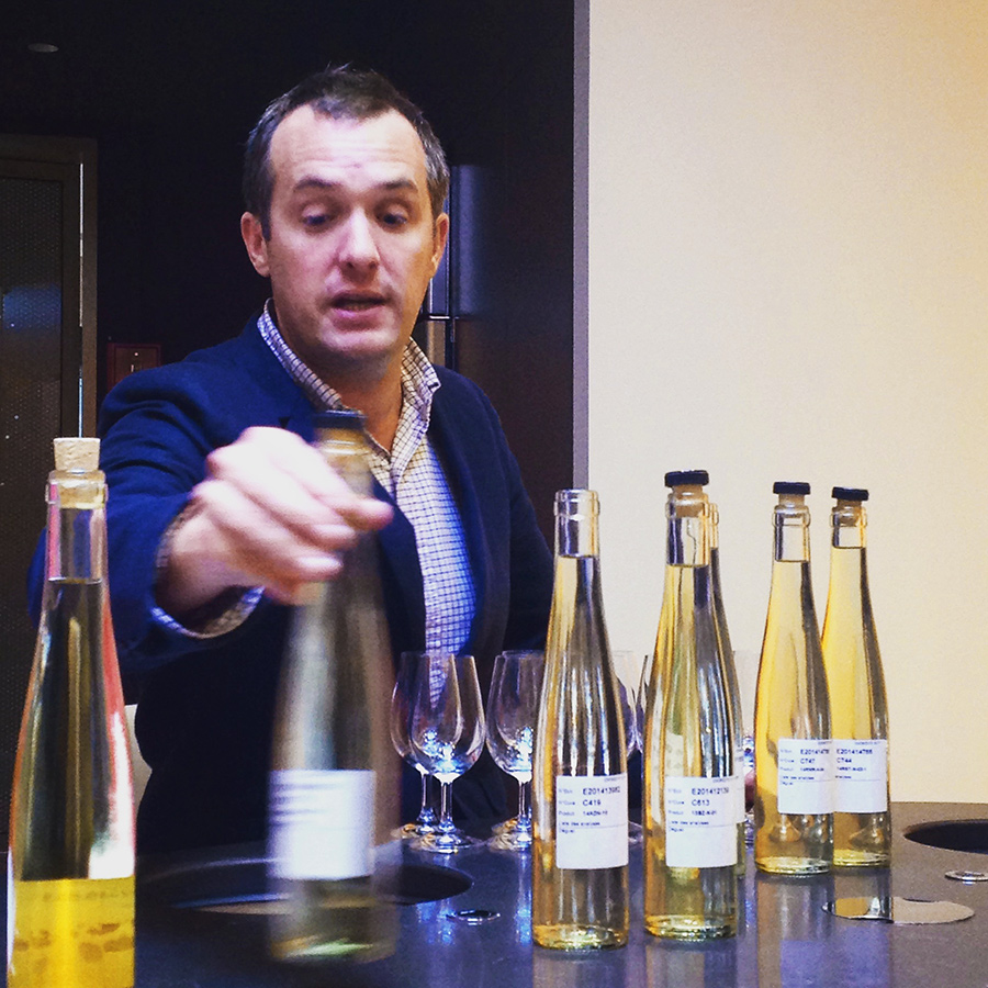 Red Grape, White Wine, Yellow Label: Tasting Base Wines for Veuve Clicquot Brut