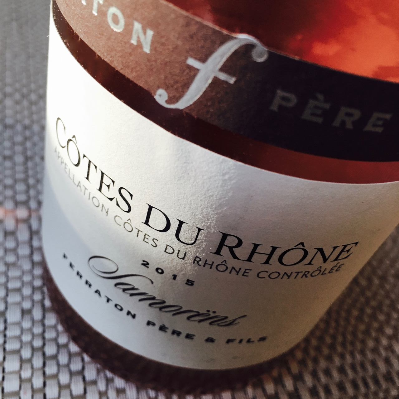 2015 Ferraton Père et Fils Samorëns Côtes du Rhône Rosé