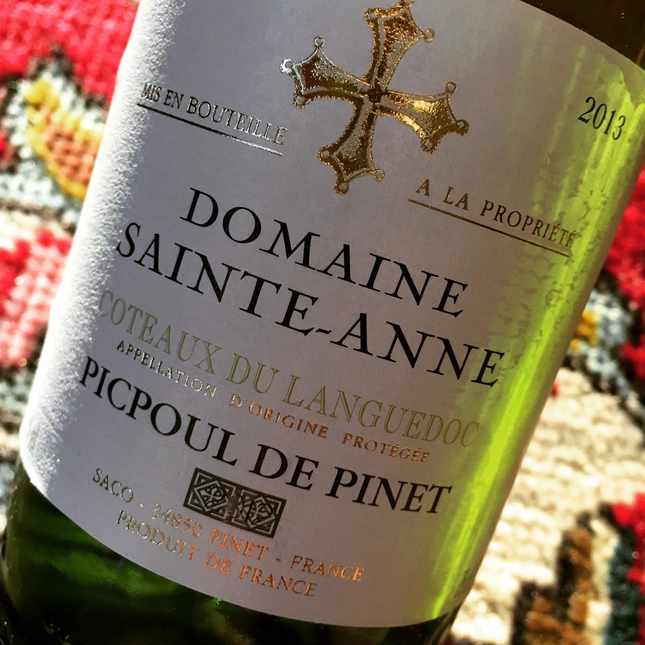 2013 Domaine Sainte-Anne Picpoul de Pinet Coteaux du Languedoc