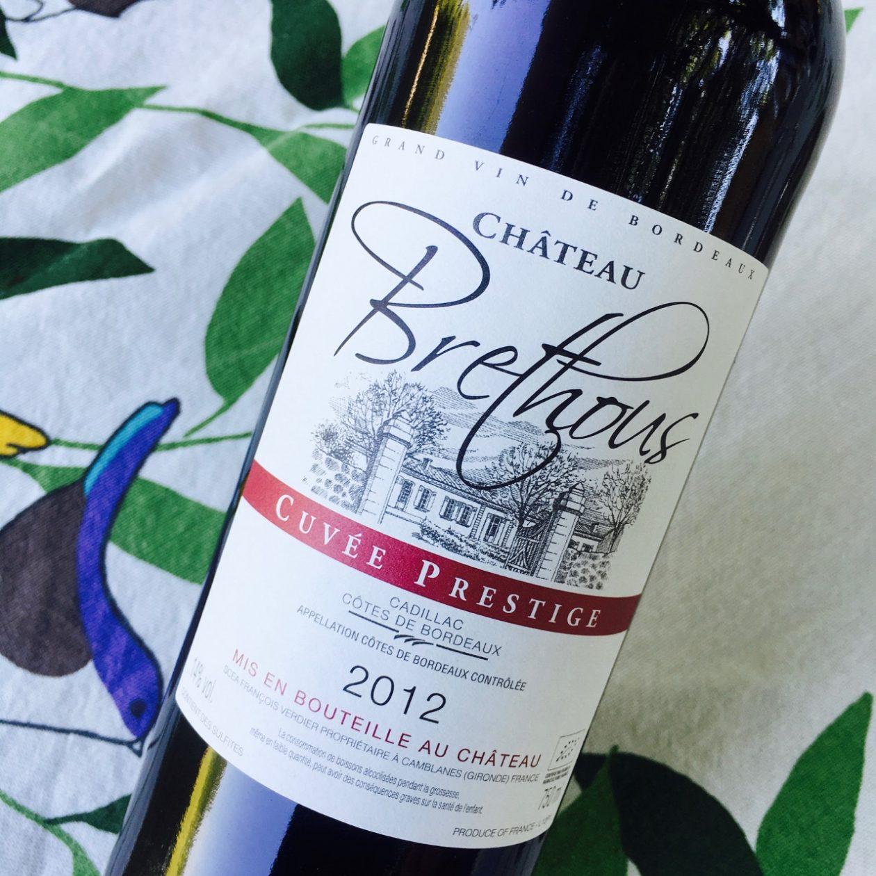 2012 Château Brethous Cuvée Prestige Cadillac Côtes de Bordeaux