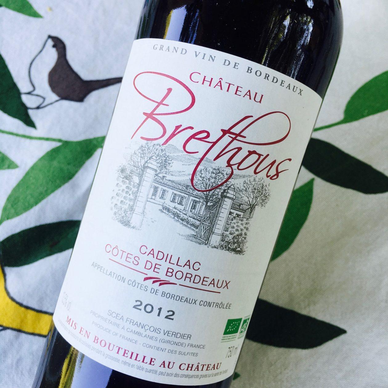 2012 Château Brethous Cadillac Côtes de Bordeaux