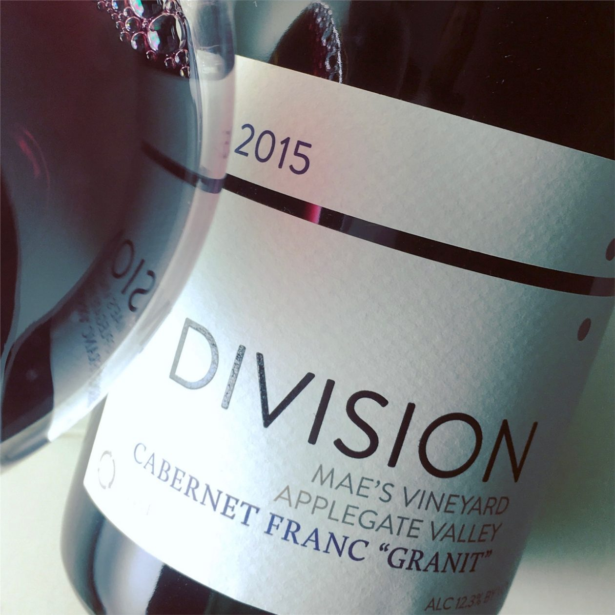 2015 Division Wine Company Cabernet Franc Granit, Mae's Vineyard Applegate Valley