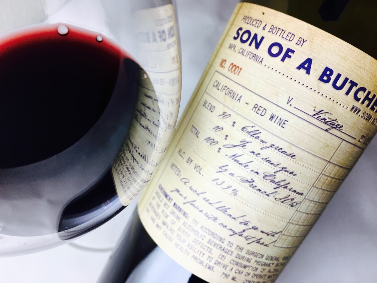 2014 Son of a Butcher Red Wine California