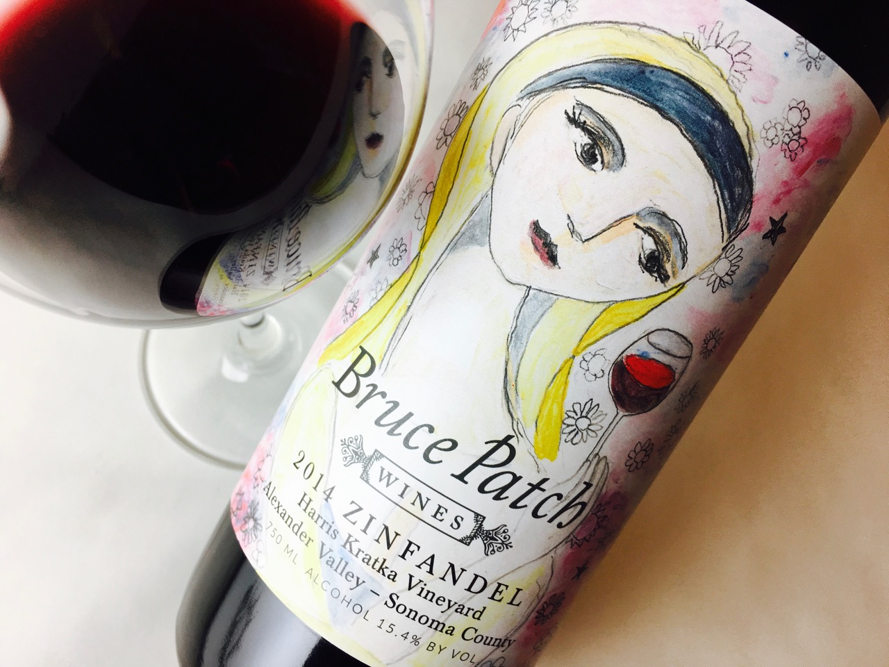 2014 Bruce Patch Wines Zinfandel Harris Kratka Vineyard Alexander Valley, Sonoma County