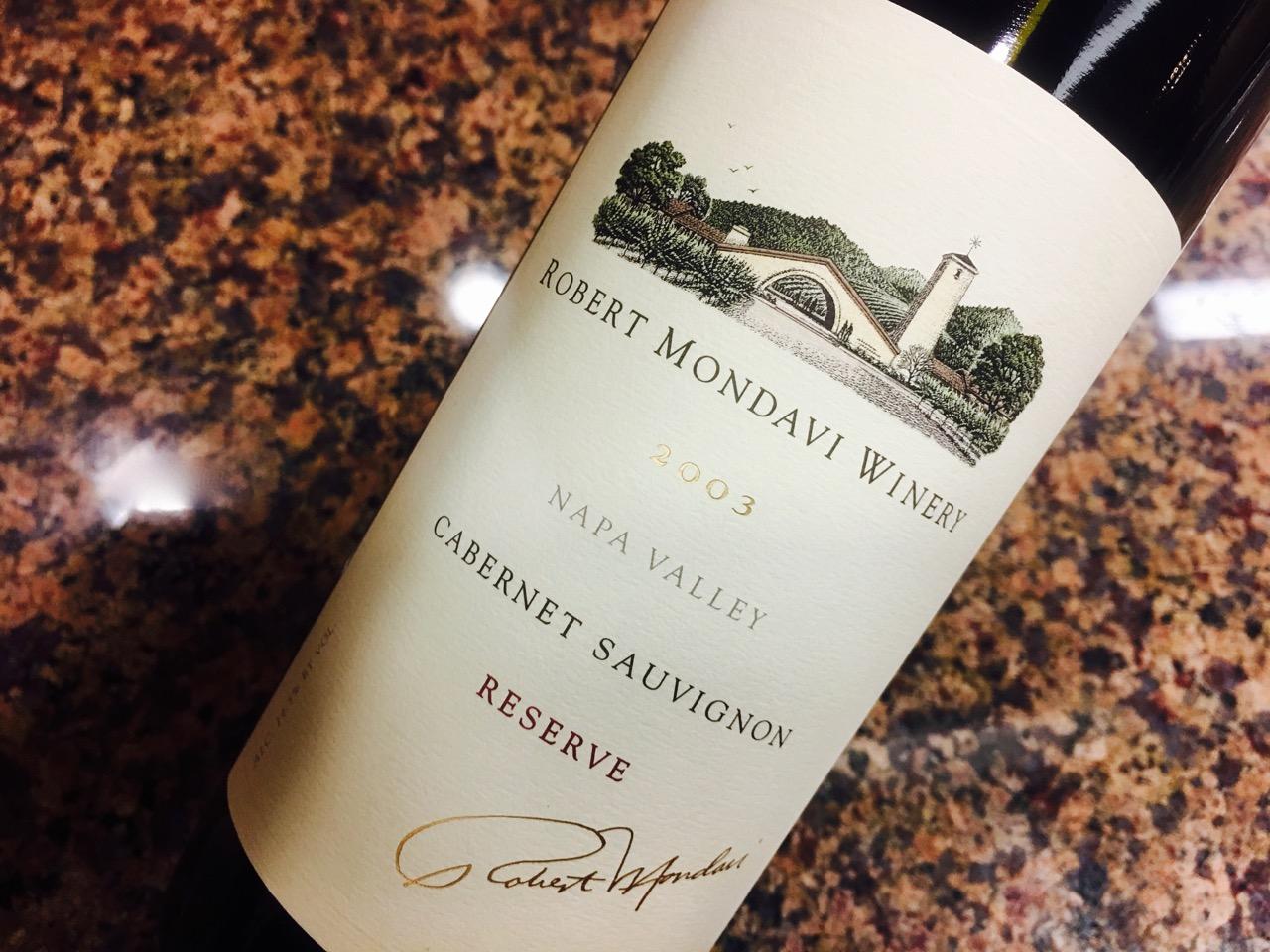 2003 Robert Mondavi Winery Cabernet Sauvignon Reserve Napa Valley