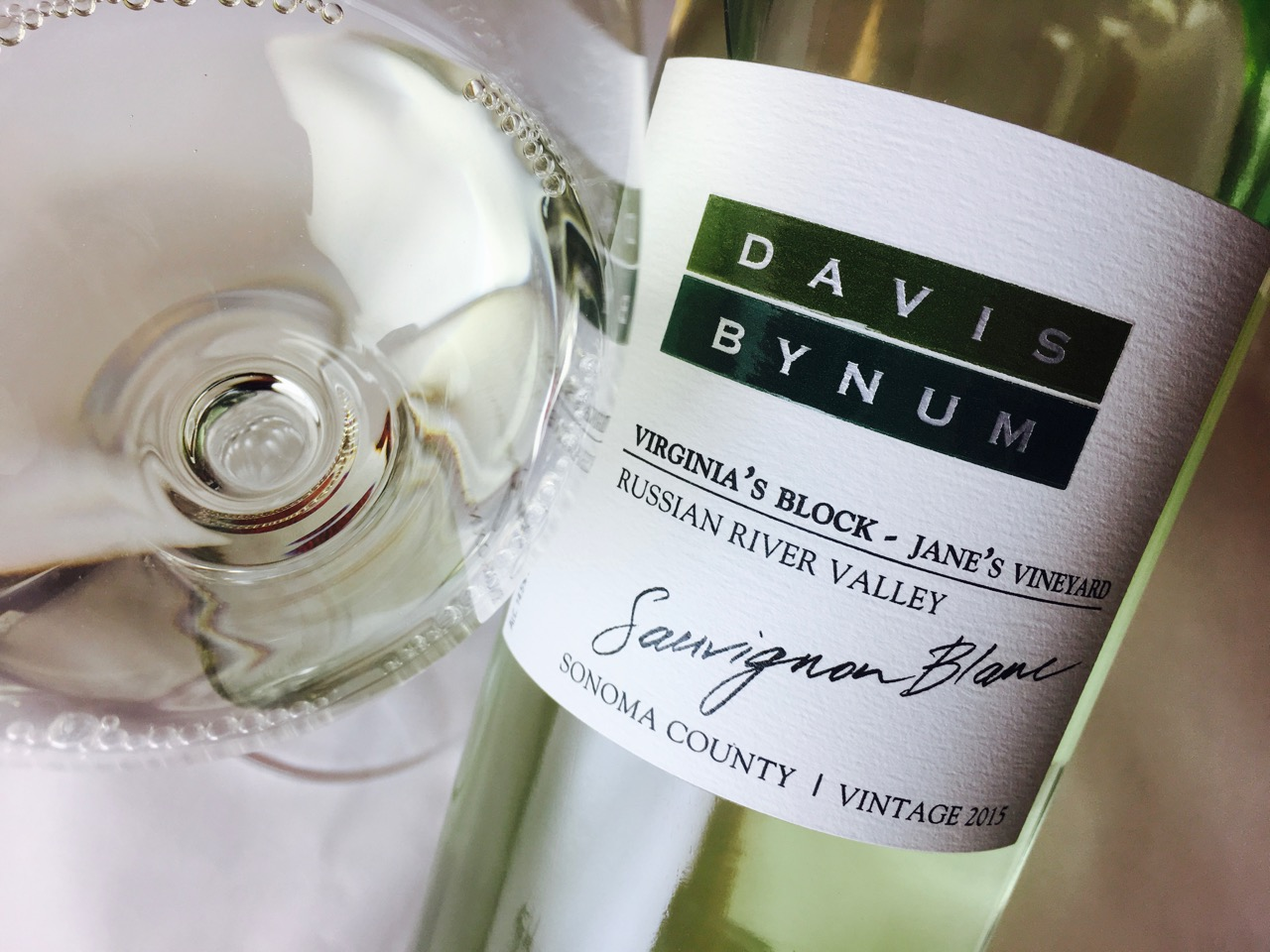 2015 Davis Bynum Sauvignon Blanc Virginia's Block Jane's Vineyard Russian River Valley, Sonoma County