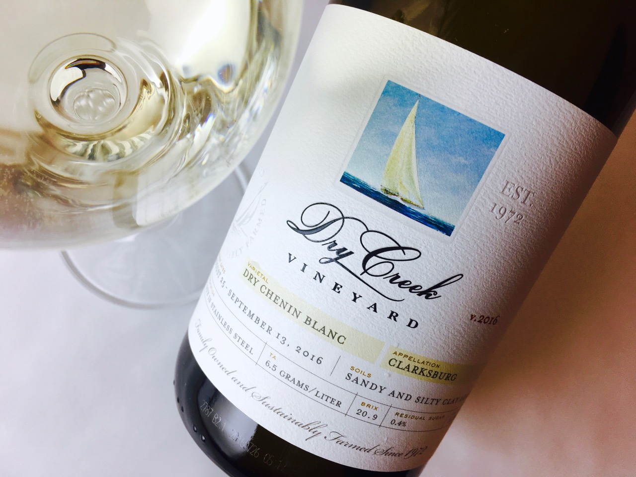 2016 Dry Creek Vineyard Dry Chenin Blanc Clarksburg