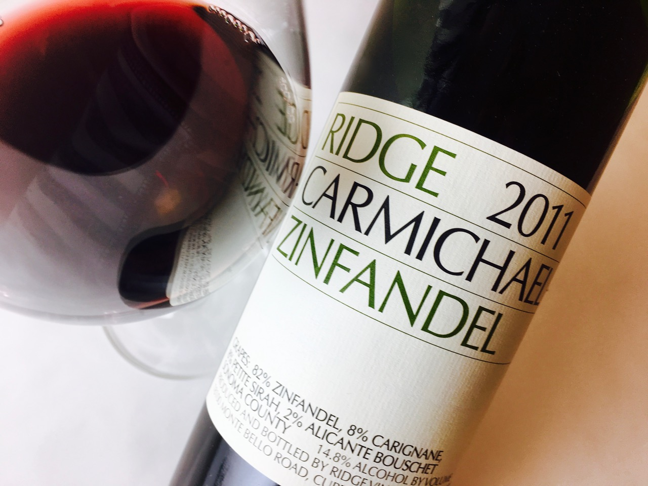 2011 Ridge Vineyards Zinfandel Carmichael Ranch Sonoma County