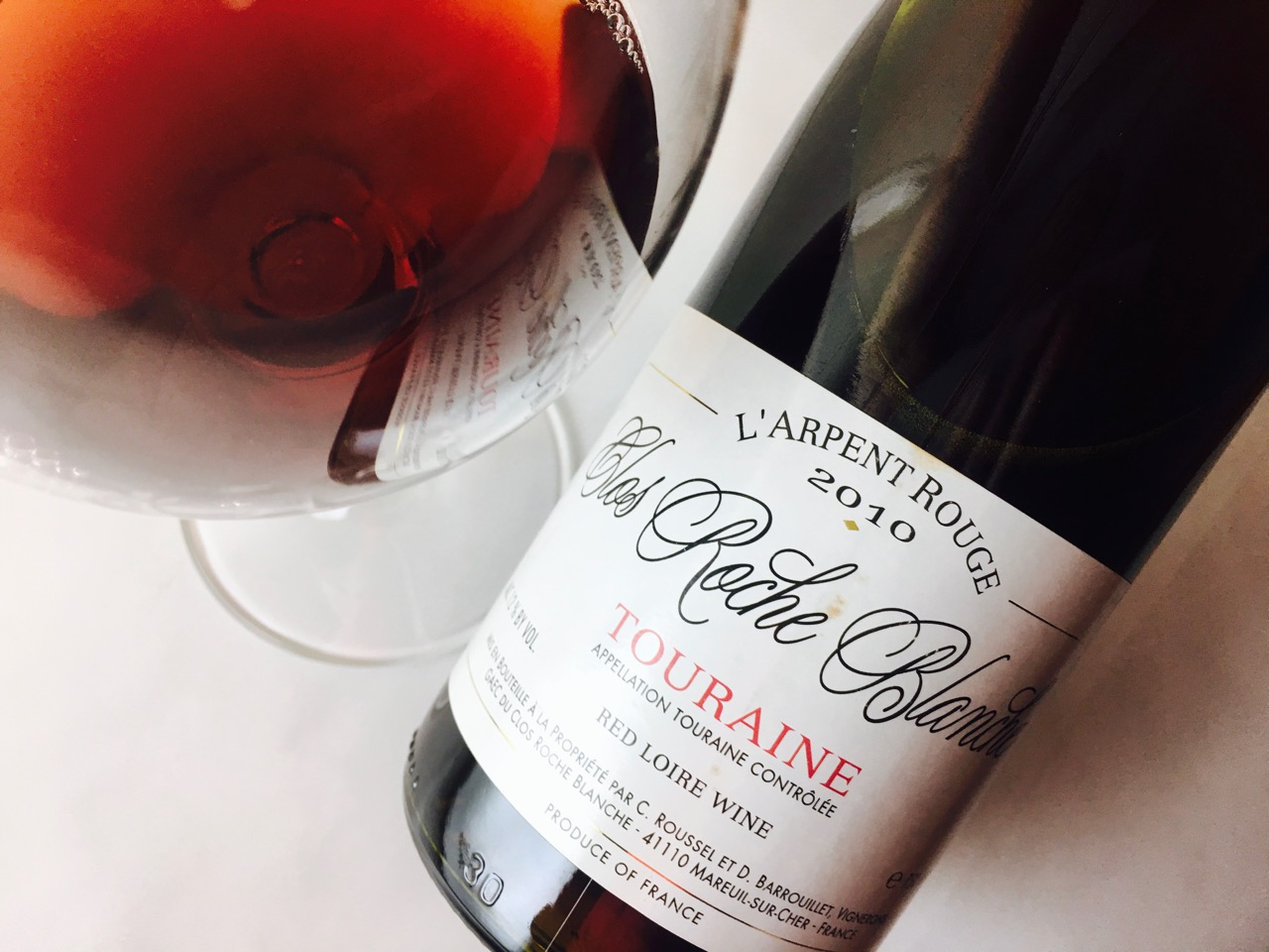 Getting Closure: Tasting 2010 Clos Roche Blanche L'Arpent Rouge