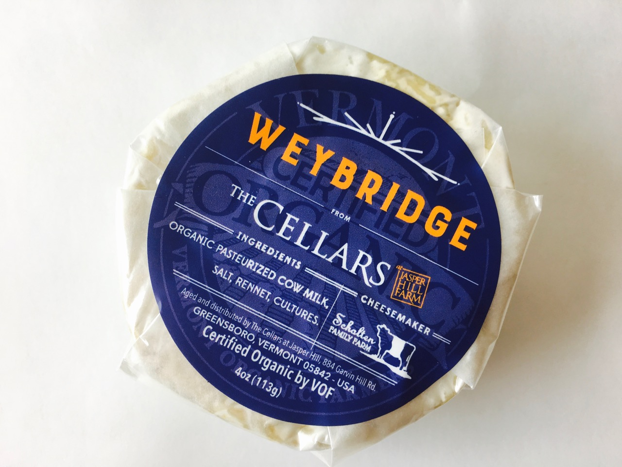 Cellars at Jasper Hill Farm Weybridge Cheese