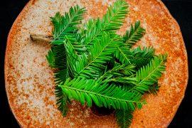 Plated evergreens at Lazy Bear – credit Lazy Bear