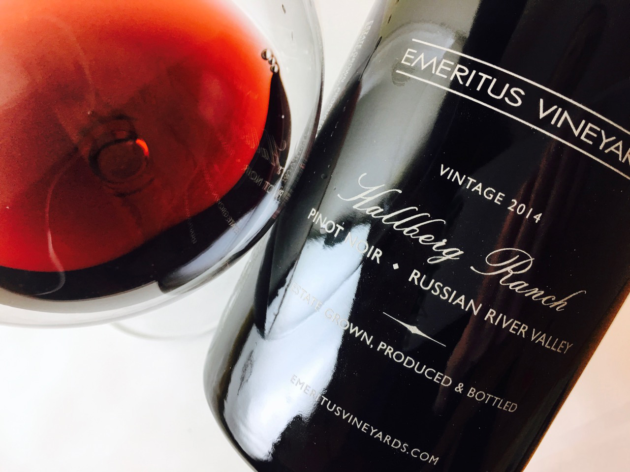 2014 Emeritus Pinot Noir Hallberg Ranch Russian River Valley