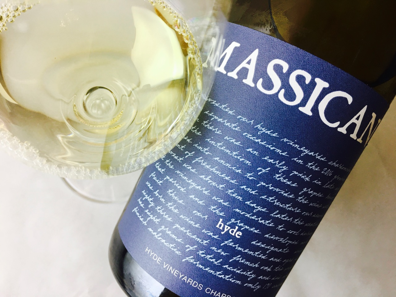 2016 Massican Chardonnay Hyde Napa Valley