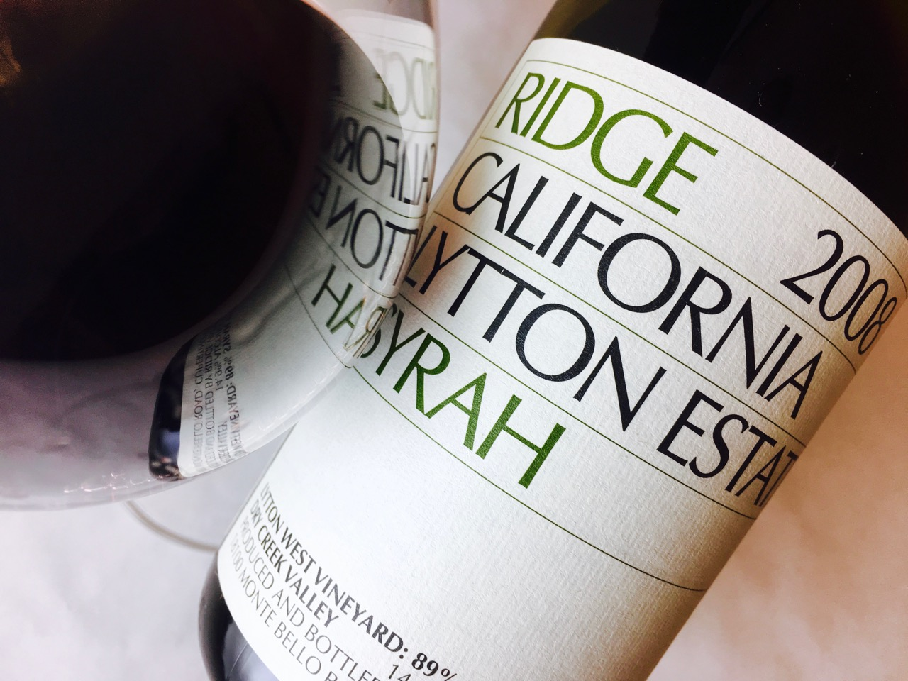 2008 Ridge Syrah Lytton Estate Dry Creek Valley