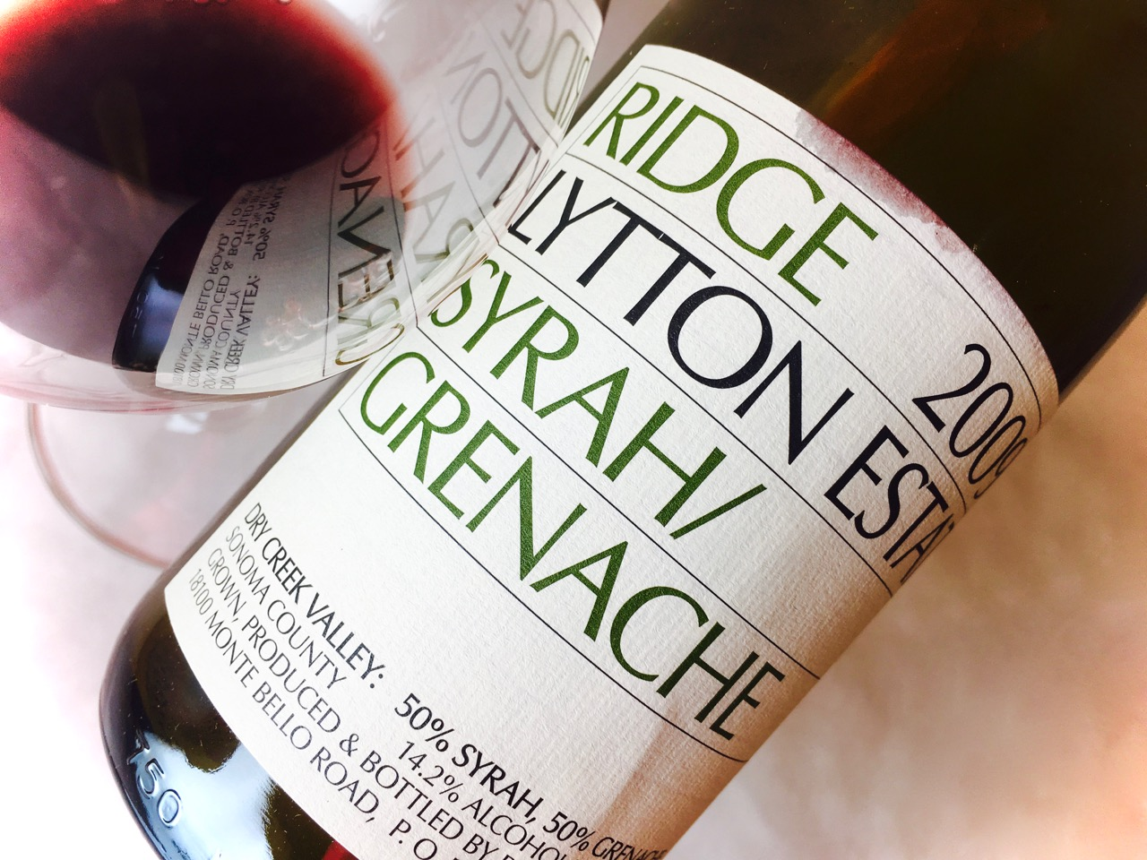 2009 Ridge Syrah Grenache Lytton Estate Dry Creek Valley