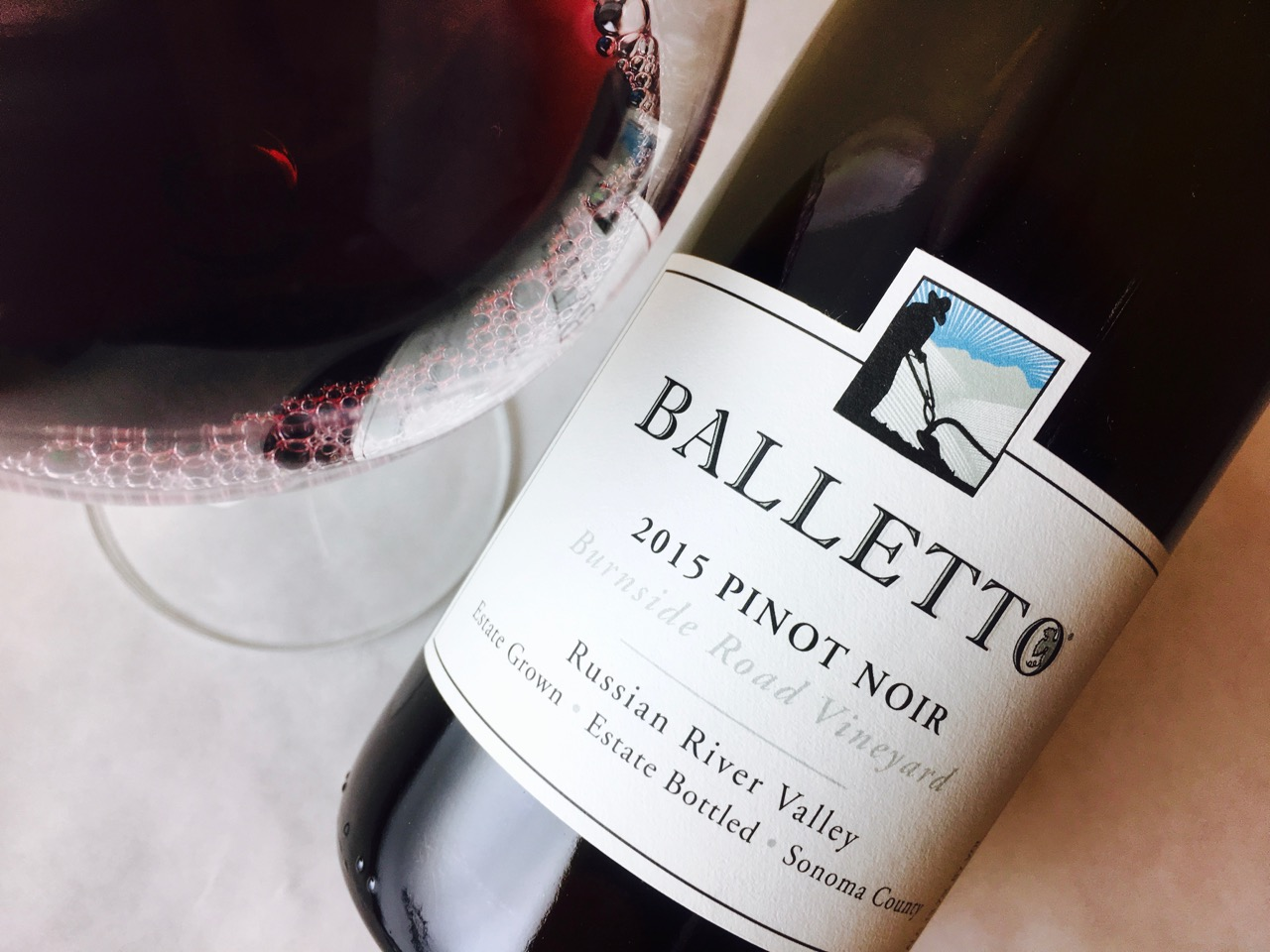 2015 Balletto Pinot Noir Burnside Road Vineyard Russian River Valley