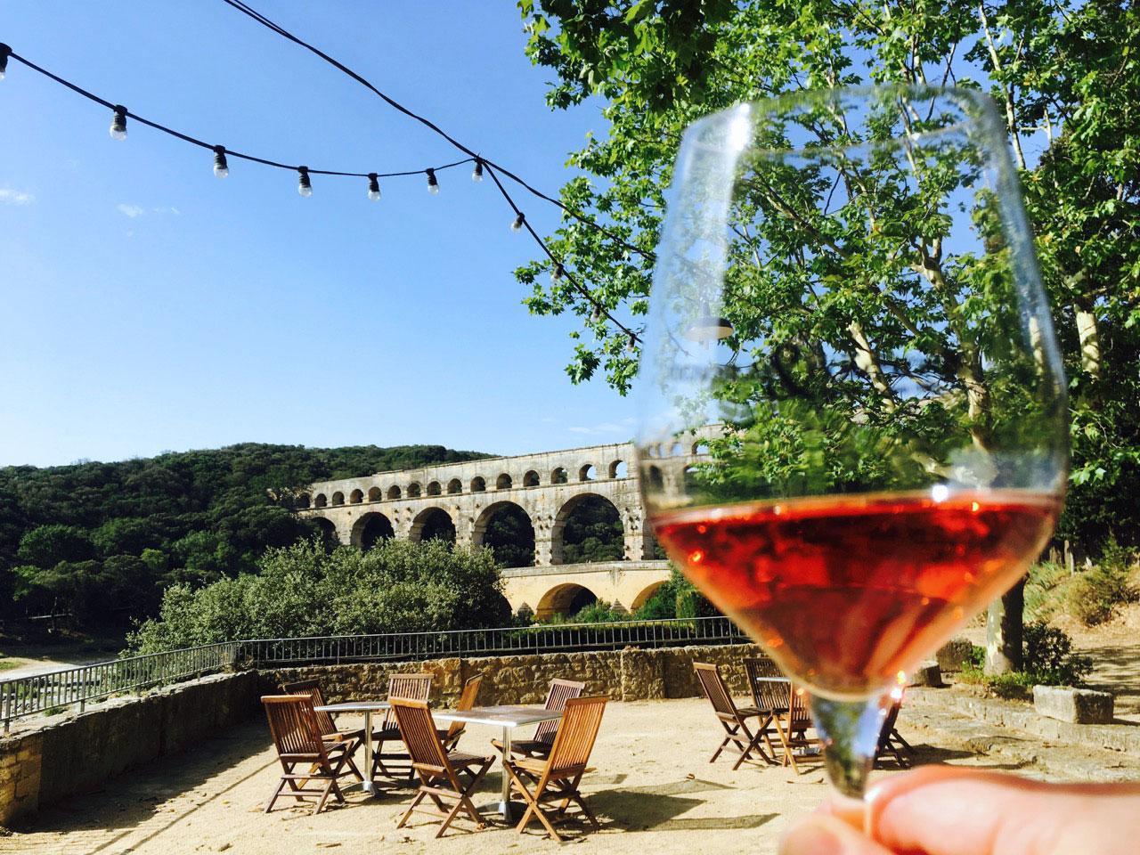 Tasting Tavel at the Pont du Gard