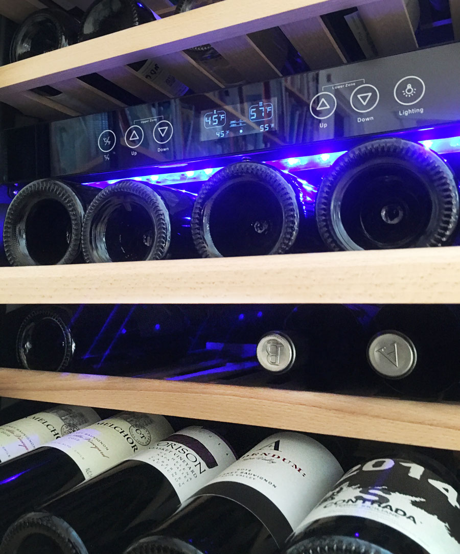 NewAir Wine Cooler Interior