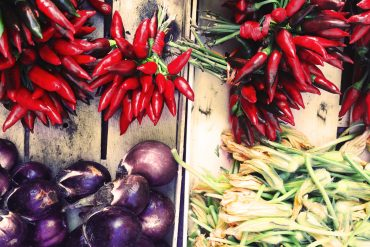 Produce in a market in Palermo, Sicily