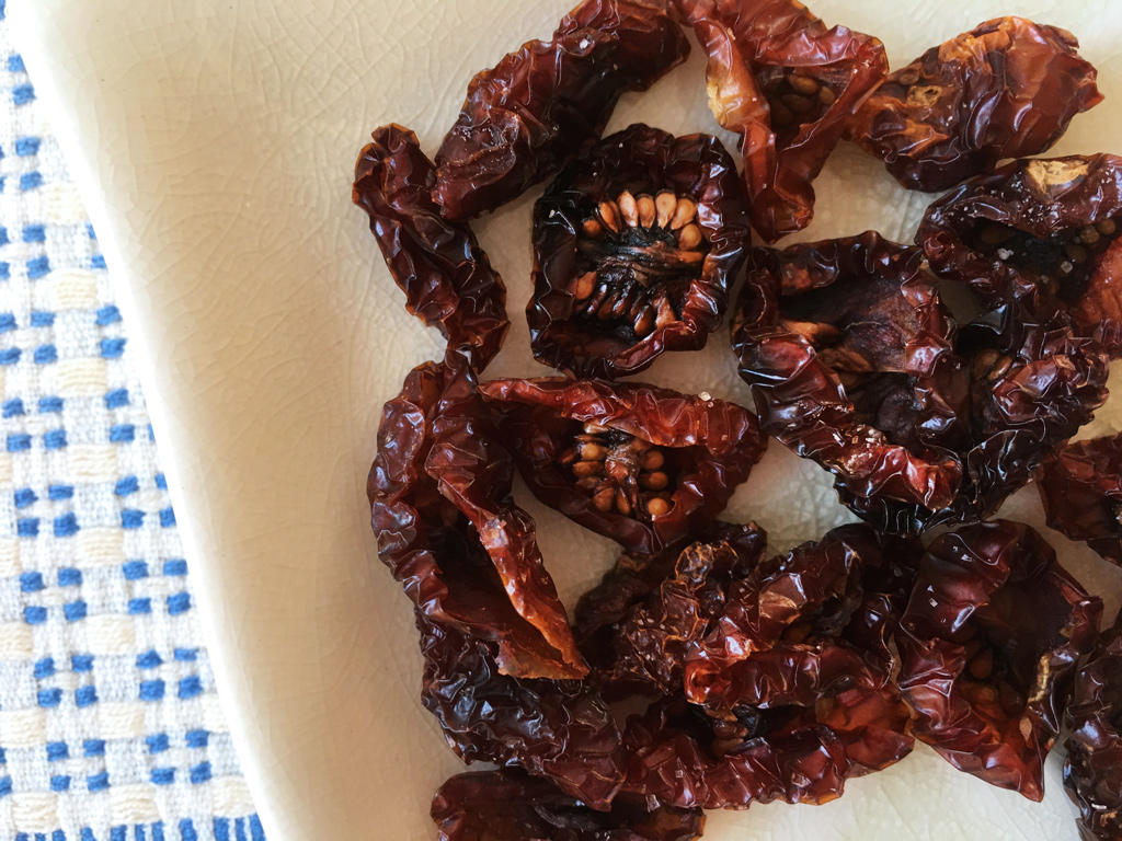 Dried tomatoes, Sicily