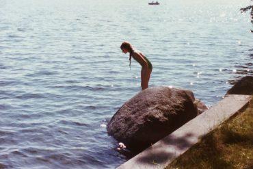 Meg at the lake