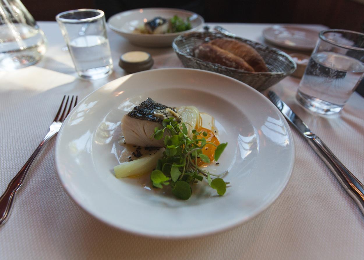 Fish course, Chez Panisse