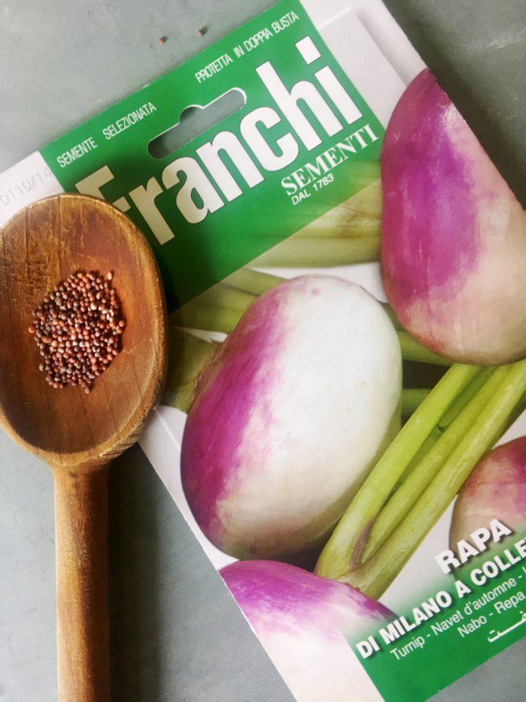 Turnip seed packet