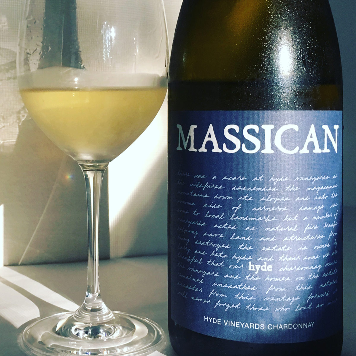 2017 Massican Chardonnay Hyde Vineyard Napa Valley