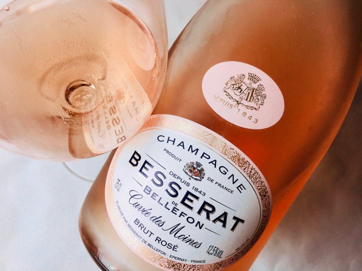 NV Besserat de Bellefon Cuvée des Moines Brut Rosé Champagne