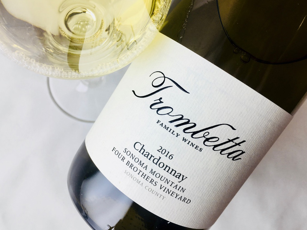 2016 Trombetta Chardonnay Four Brothers Vineyard Sonoma Mountain