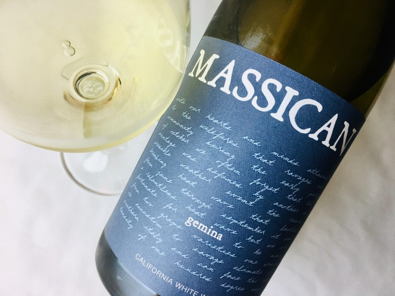 2017 Massican White Blend Gemina California