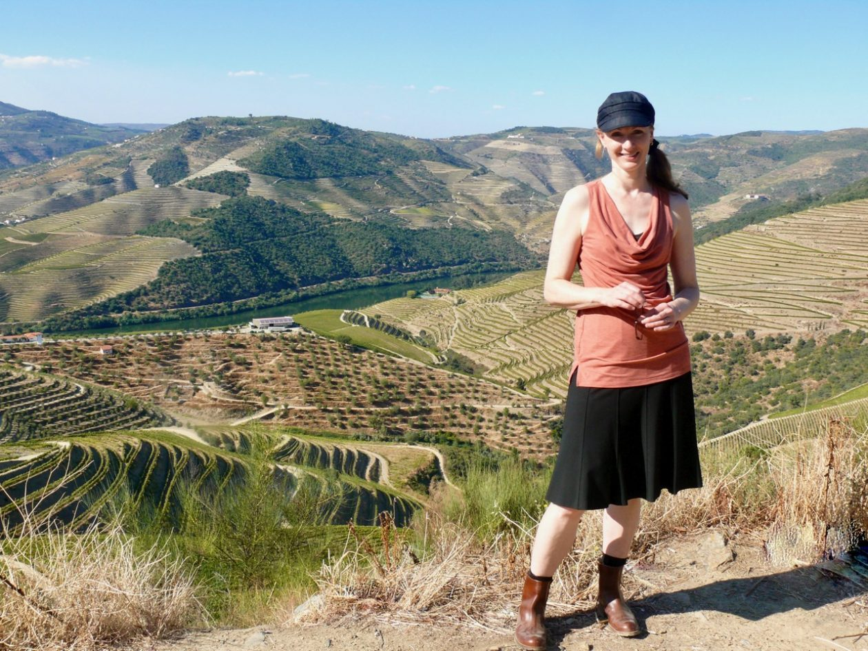 The author, Meg Maker, overlooking the Douro