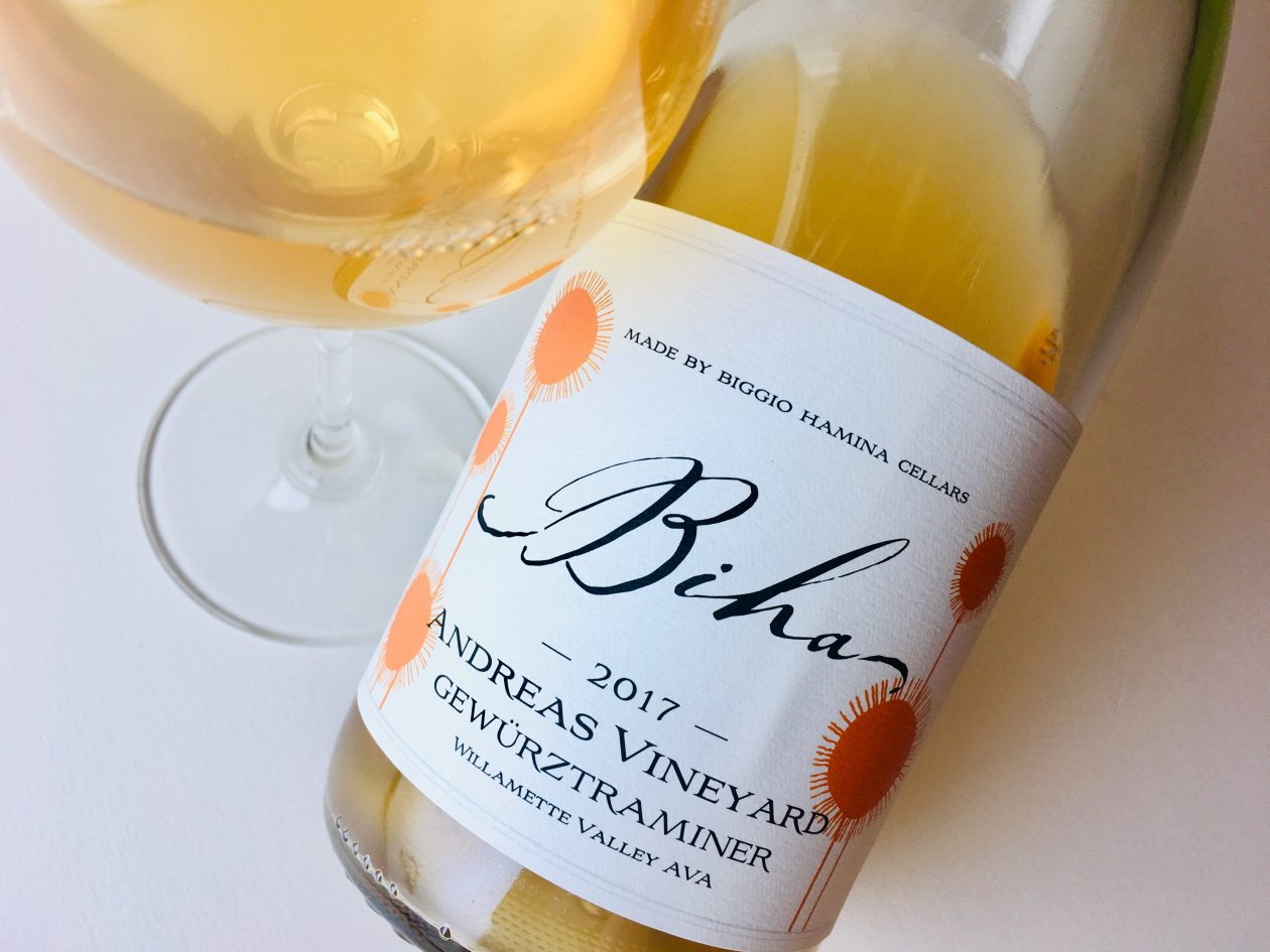 2017 Biggio Hamina Gewürztraminer Biha Andreas Vineyard Willamette Valley