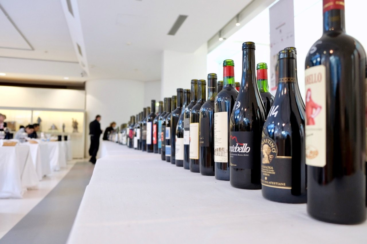 The lineup for the Vini ad Arte tasting