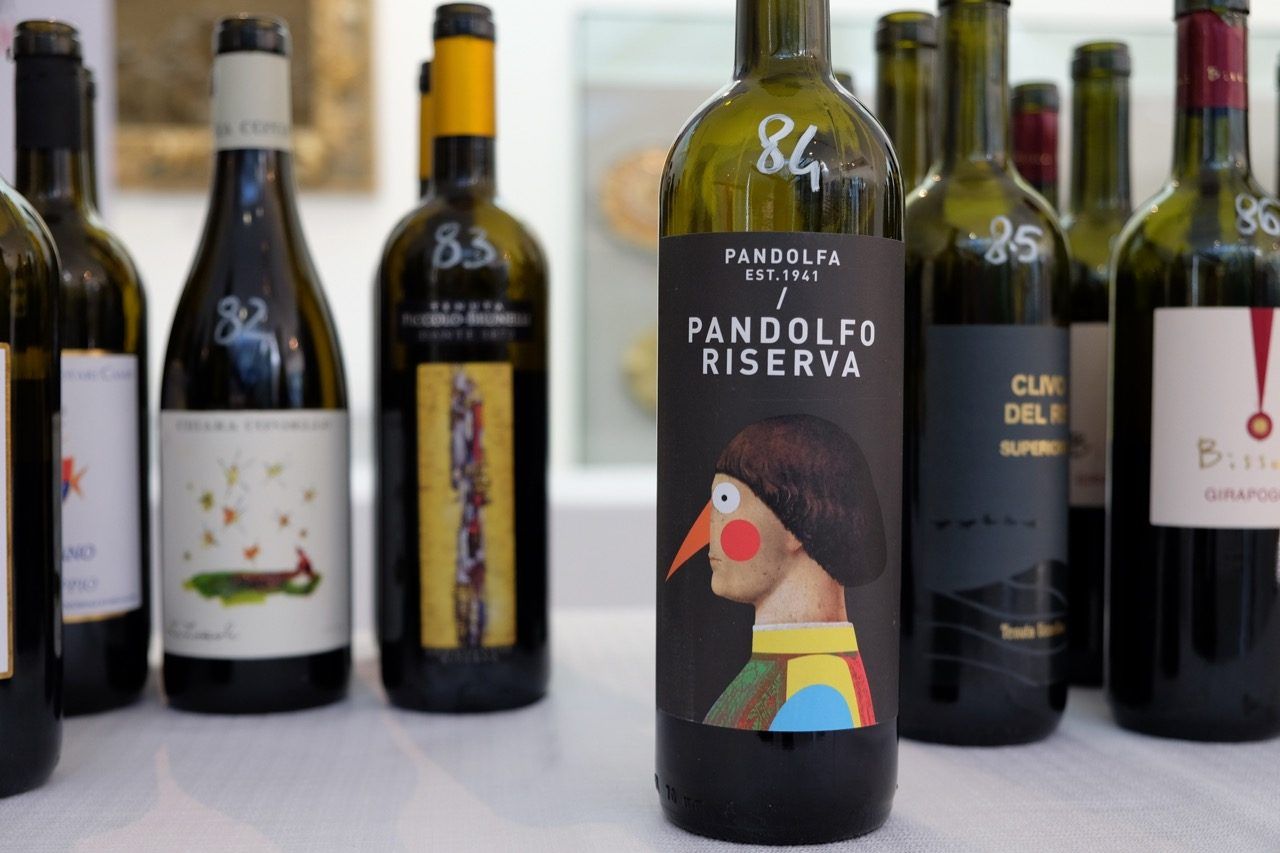 Pandolfo Riserva at the tasting table