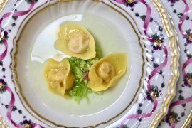 Tortelloni in brodo at San Domenico restaurant