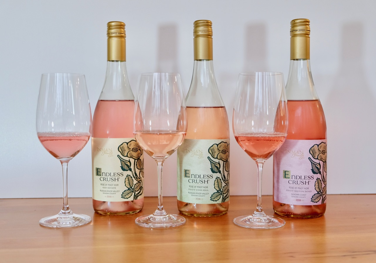 Three Rosés from Inman Family Wines
