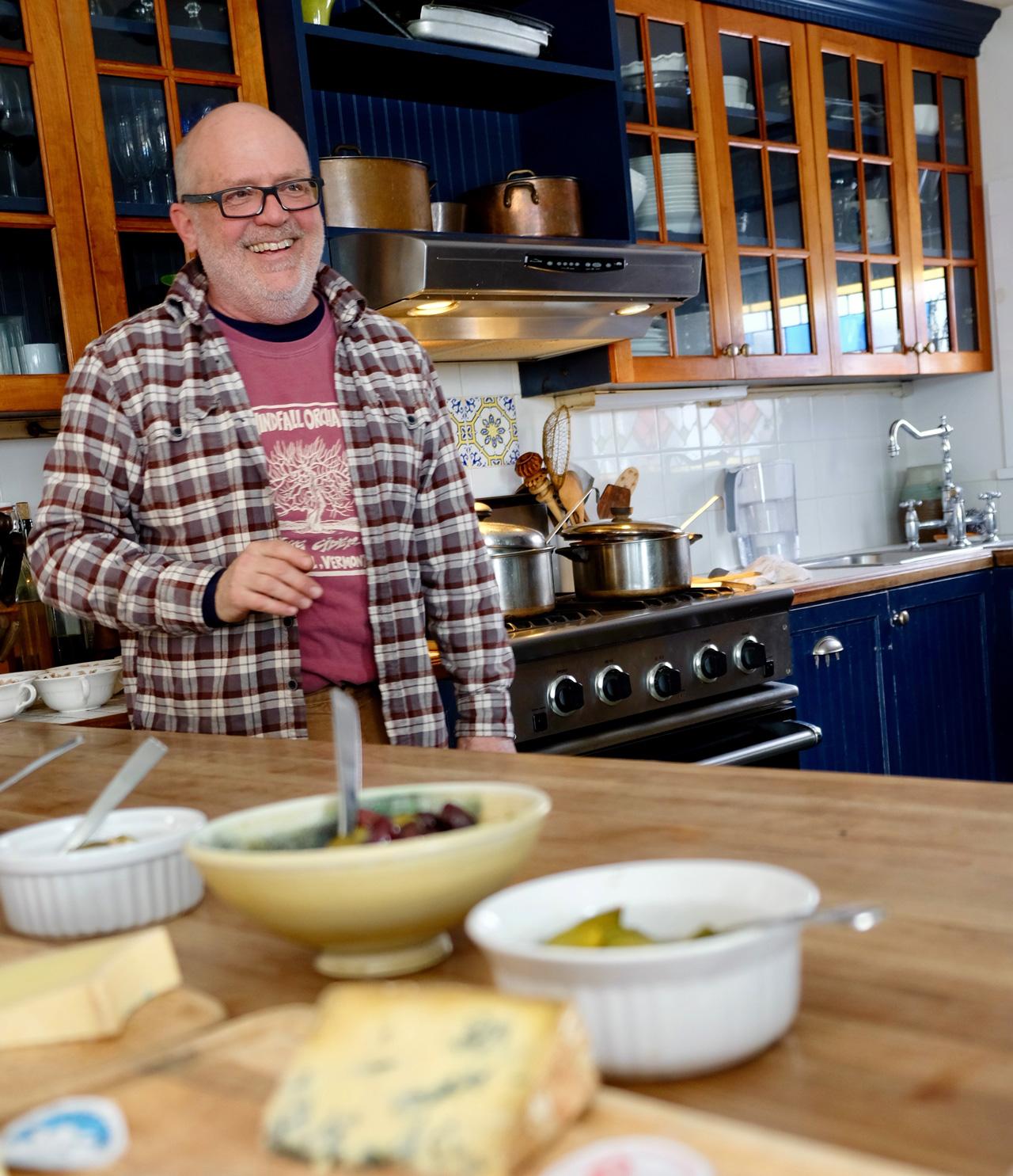 Brad Koehler at home in his kitchen
